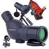 Telescopio Terrestre 12-36x50 HD con Trípode, Bolsa de Transporte y Adaptador de Teléfono Inteligente para Observación de Aves, Observación de Estrellas, Tiro con Arco, Paisaje de Vida Silvestre