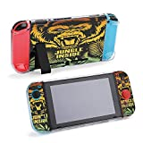 SUPNON Illustration with Gorilla and Jungle Protective Case Compatible with Nintendo Switch Soft Slim Grip Cover Shell for Console & Joy-Con with Screen Protector, Thumb Grips Design20377