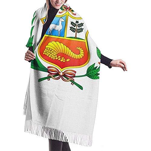 Bandera de Perú Manta Bufanda Chaqueta de abrigo cálido Chal