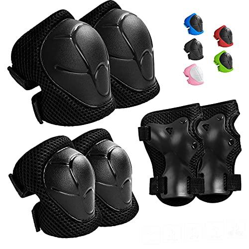 Wemfg Kids Protective Gear Set Knee Pads for Kids 3-14 Years...