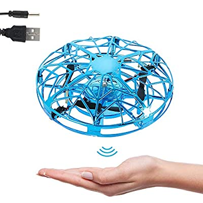 Keyohome UFO Mini Drone, Mini Drone for Kids UFO Flying Ball Toys Hand Controlled Drone Quadcopter Flying Toys With LED Light Aircraft Games Gifts for Boys Girls Children