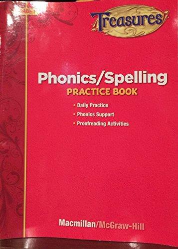Treasures Phonics/Spelling Practice Book, Grade 1