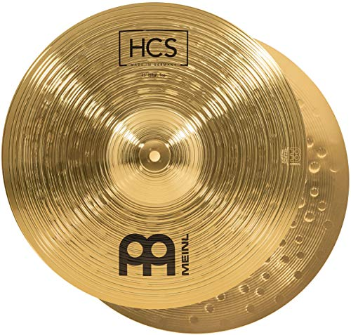 Meinl Cymbals HCS 15 Zoll (38,1cm) Hihat Becken für Schlagzeug – Paar – Messing, traditionelles Finish (HCS15H)