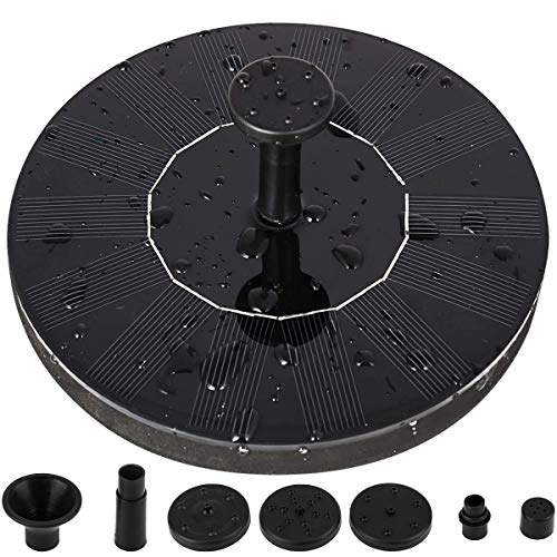 LEDGLE Solar Fountain Pump, Solar Bird Bath Fountain 1.4W Free Standing Solar Powered Water Pumps Panel Kit Outdoor Birdbath Watering Submersible Pump for Pond, Garden and Patio