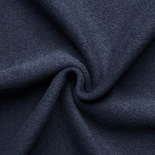 (16,99€/m) HANNAH - Wollstoff Stoffe Wolle Kaschmir Mantel Mittelalter Vorhang Decke Umhang Larp Meterware - 10 Farben (indigio blau)
