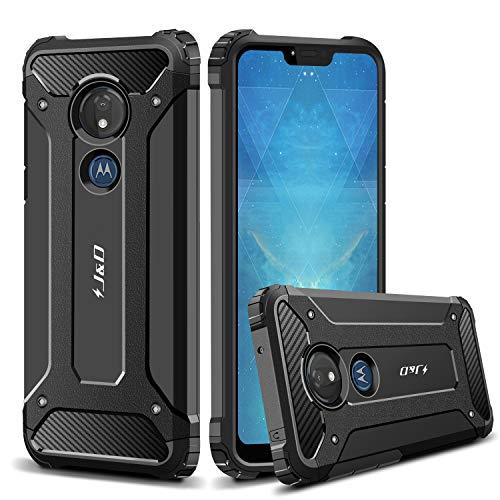 JundD Kompatibel für Moto G7 Power/Moto G7 Supra Hülle, [ArmorBox] [Doppelschicht] [Heavy-Duty-Schutz] Hybrid Stoßfest Schutzhülle für Motorola Moto G7 Power - [Nicht für Moto G7/G7 Plus/G7 Play]
