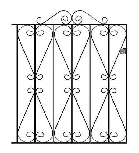 Regent Metal Scroll Garden Gates 838mm GAP X 914mm H galvanised wrought iron swing gate RSZP2