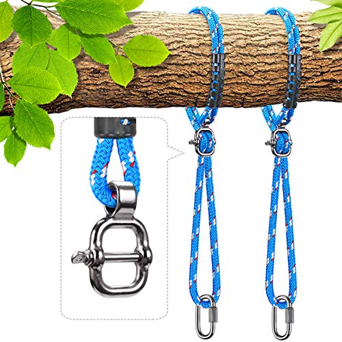Besthouse Tree Swing Ropes, Hammock Tree Swings Hanging Straps, Adjustable Extendable, for Outdoor Swings Hammock Playground Set Accessories, 4.90ft(58.8') & 1000 lb Capacity, Diameter 0.39', 2 Pack