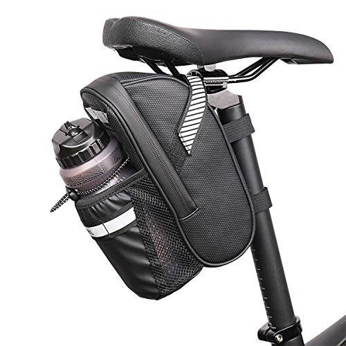 Bolsa De Sillín De Bicicleta, Bolsa De Almacenamiento De Bicicleta De Cuña Impermeable con Rayas Reflectantes, Bolsa De Bolsillo Debajo del Asiento para Bicicletas De Montaña Y Carretera