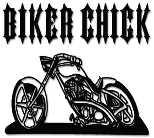 SUPERSTICKI Biker Chick Chopper Motorcycle - [6 inch/15 cm Wide] - Aufkleber Auto,Scheine,Lack,Motorrad,Wandtat