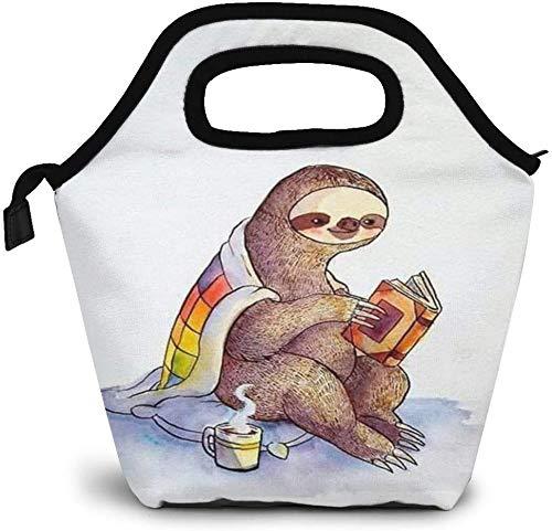 Bolsa de almuerzo con aislamiento de café caliente y libros de literatura, bolsa de almuerzo personalizada, bolsa de picnic portátil, bolsa de almuerzo para mujeres, niñas, hombres y niños
