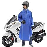 GUYMU レインコート レインポンチョ スクーター バイク 自転車 (ブルー)