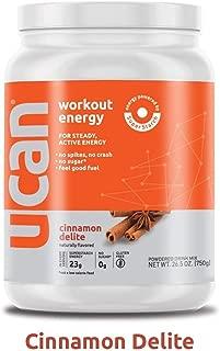 UCAN Pre Workout Energy Powder with SuperStarch - Vegan, Keto Friendly, Sugar and Gluten Free - No GI Distress, Maximum Endurance, No Bloating (30 Servings, Cinnamon)