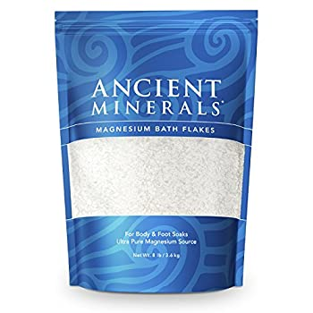 Ancient Minerals Magnesium Bath Flakes of Pure Genuine Zechstein Chloride resealable Magnesium Bag That Will outperform Leading Epsom Salts  8 lb