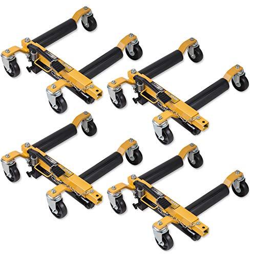 BullPower 4X Rangierheber Rangierhilfe, Auto-Lift, Go Jack, Reifen-Wagenheber für PKW - je 680kg
