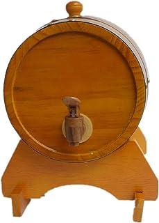 Tonneau à vin en Bois Fût de Chêne De 1,5 L, Fût de Whisky en Bois pour La Fabrication du Vin ou La Conservation du Vin de...