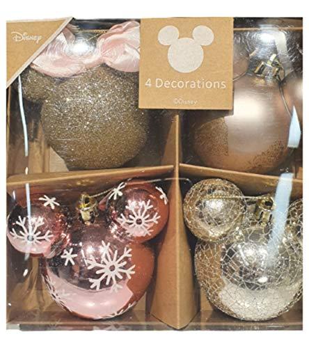 Disney Mickey & Minnie Maus Weihnachtskugeln, für Weihnachtsbaum, hängende Dekorationen