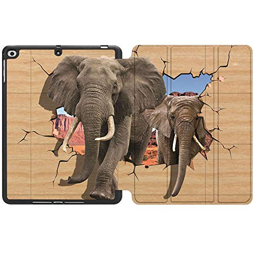 SDH Funda para iPad de 9,7 pulgadas 2018 2017,iPad Air 1 / iPad Air 2 Smart Cover Folio Stand Protector para Apple iPad 5ª 6ª generación (A1822/A1823/A1893/A1954), 3D Abstracto Wall 1