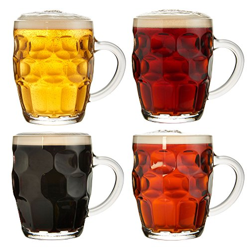 VonShef Lot de 4 chopes de bière traditionnelles 55.5 cl