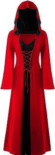 Alwayswin Hoodie lång dam halloween kostym jacka rock klänning stor storlek medeltida långärmad vintage lång kappa mode ho...