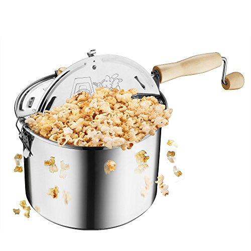 Great Northern Popcorn Original Stainless Steel Stove Top 6-1 2-Quart Popcorn Popper