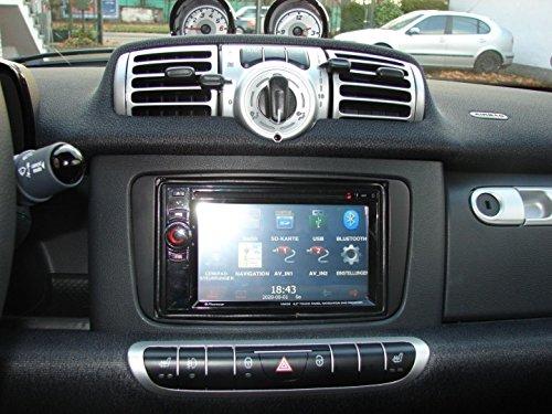 Façade d'autoradio double DIN pour Smart