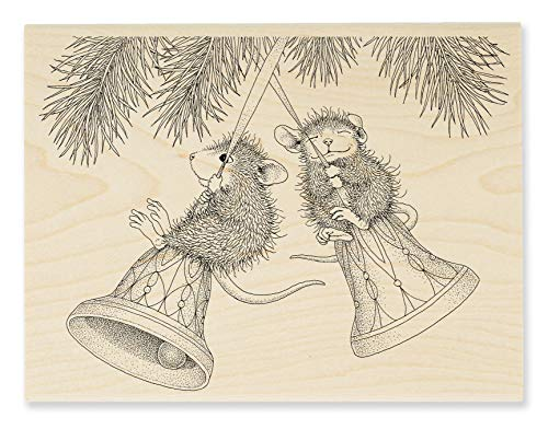Stampendous House Mouse Bell Swinging Rubber Stamp