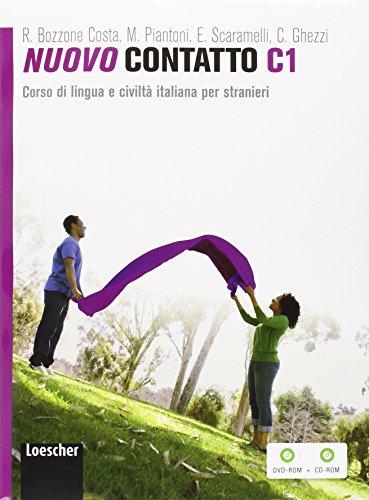Nuovo Contatto C1. Corso di lingua e civiltà italiana per stranieri (Volume C1 + DVD ROM + CD ROM): Volume C1 (Manuale + Eserciziario + Digitale) + DVD-ROM + CD-ROM