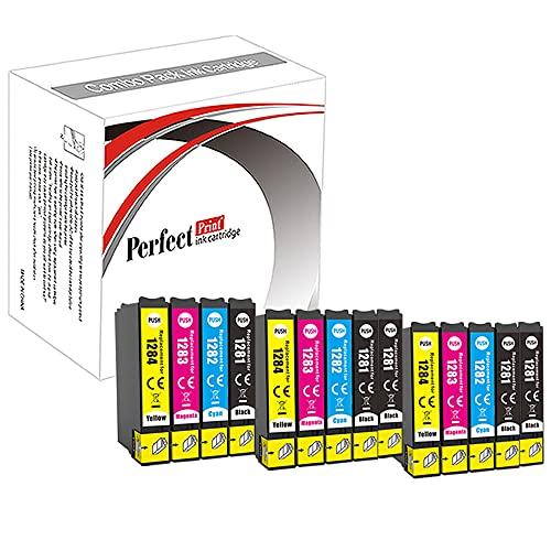 14cartouches de remplacement d'encre compatibles T1281, T1282, T1283, T1284 pour Epson S22, SX125, SX130, SX420W, SX425W, SX445W, BX305F, BX305FW, SX230, SX235W, SX445W, SX435W, SX430W, SX125, SX130, SX420W, SX425W, SX440W, SX438W
