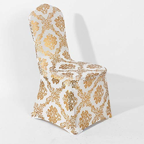 LHOUSSAINE Chair Cover - Colours Print Chair Cover Pattern Spandex Chair Cover for Wedding Party Decoration Lycra Dinner Chair Cover fit All Chairs - by 1 PCs