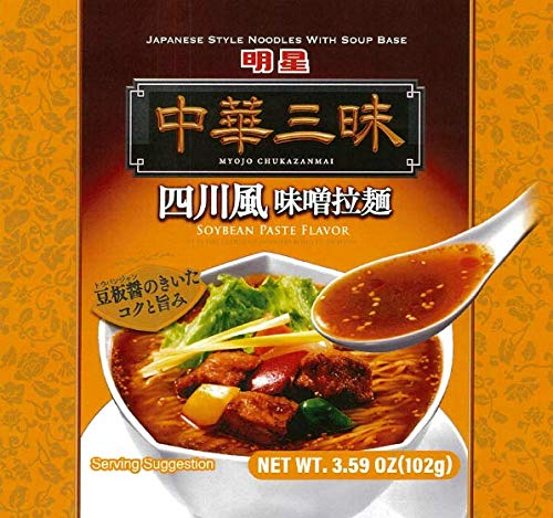 Myojo Chukazanmai Instant Ramen Miso Soybean Paste Flavor, 3.84-Ounce (Pack of 6)