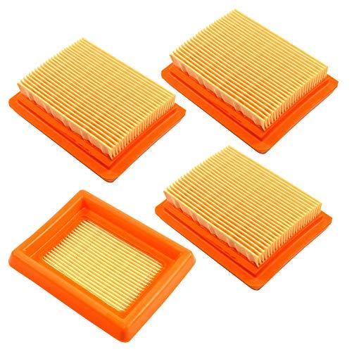 HQRP Paquet de 4 Élément de filtre à air compatible avec Husqvarna 521642101/521 64 21-01 pour Husqvarna 243R 243RJ 253R 253RB 253RJ 543RS 553RBX 553RS Coupe-bordure, Mètre du Soleil