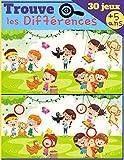 Trouve les Différences - Dès 5 ans - Livre de jeux pour enfant, cahier d'activité avec 7 à 11 différences par images - IMAGES GRAND FORMAT & SOLUTIONS