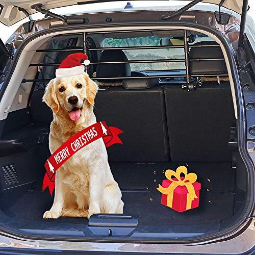 ISSYZONE Divisori Auto per Cani, Lunghezza Regolabile Poggiatesta Auto per Cani, Divisorio Auto per Cani