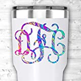 Rainbow Effects Monogram Sticker for Yeti Cups and Tumblers Laptops or Cars