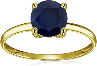 Star KSolid 14k Yellow Gold 7mm Round Solitaire Promise Ring