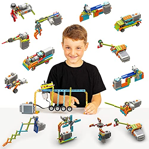 STEM Building Blocks Toys Educational Set for Kids 119 in 1 Motorized...