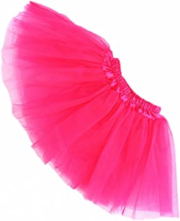 Girl's Tutu Skirt 3 Layers Princess Dress Ballet Tulle Halloween Dress Up Skirt for 3-8T
