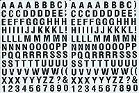 (シャシャン)XIAXIN 防水 PVC製 アルファベット ステッカー セット 耐候 耐水 数字 キャラクター ミニサイズ 表札 スーツケース ネームプレート ロッカー 屋内外 兼用 TSS-105 (2点, ブラック)
