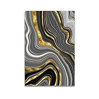 現代アートゴールデンカラーライン抽象絵画キャンバスポスターとプリント北欧の装飾壁アートPicutre家の装飾60x90cmフレームなし