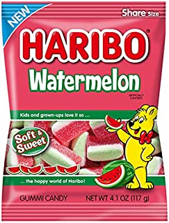 Haribo Gummi Candy, Watermelon, 4.1 Oz (Pack of 12)