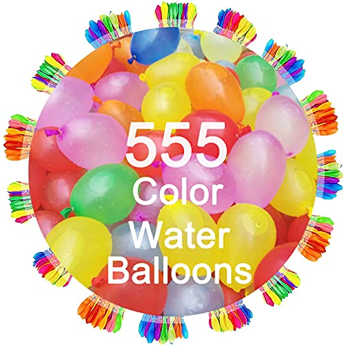 Water Balloons - 555 PCS, PAVHHV Quick Fill Self Sealing Water Balloons Set Pool Party Toys for Kids Adults, Easy Fun Summer Outdoor Water Bomb Fight Games Balloons Set Party Games