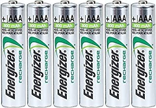 Energizer Energizer AAA Rechargeable NiMH Battery 800 mAh 1.2V x six (6) Batteries
