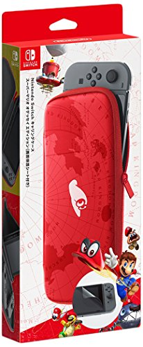 Nintendo Switch Carrying Case & Screen Protector - Mario Odyssey Edition