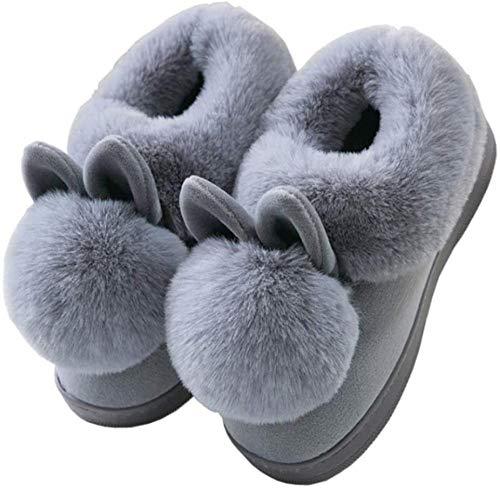Zapatillas de algodón, Bolso de Mujer con Fondo Grueso de Invierno, Bonitas Zapatillas de casa, cálidas para Mujer, Zapatos de algodón de Dibujos Animados para Mujer-Código 34 5_A Improve