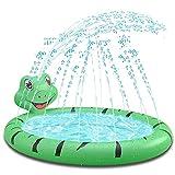 Baby Pool, Planschbecken für Kleinkinder,Kinder Aufblasbarer Pool mit Wasser Sprinkler,Wasser Spielezentrum für Kinder Innen & Außen