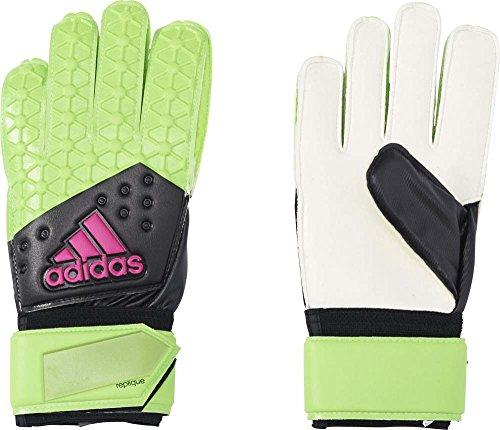 adidas Erwachsene Handschuhe ACE Replique Torwarthandschuhe, Solar Green/Core Black/Shock Pink S16/White, 11