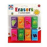 Anker Duft-Radierer für Kinder zum Basteln, Kunststoff, 8 Stück