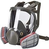 Sock Maschera Antigas Integrale Gas Masks Respiratoria Antipolvere Facile da Respirare Riutilizzabile per Occhiali e Filtri per Protezione dalla Polvere Fauay,Box 7