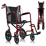Best Transport Chairs - Vive Folding Transport Wheelchair - Aluminum Chair Review